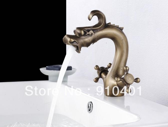 Luxury Artisitic Polished Brass Bathroom Faucet Vessel: Antique Brass Faucet : Decorative Kitchen Cabinet Hardware