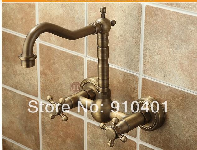 ... Kitchen Faucet Spout Sink Mixer Tap 2 Handle Antique Brass Faucet-310