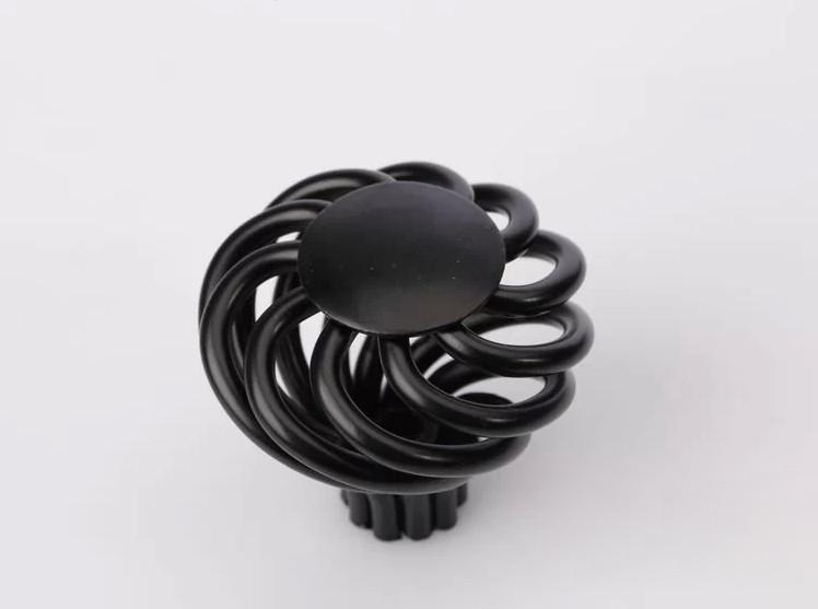 10pcs Black Round Birdcage Knobs Cabinet Children Cute