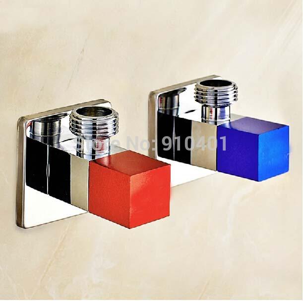 Modern chrome brass bathroom angle stop valve 1 2 male x - Chrome and brass bathroom accessories ...