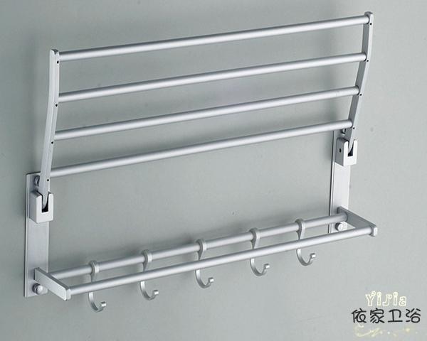 aluminum bathroom double deck towel holder towel rack bathroom shelf