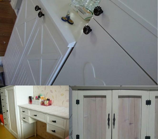 66mm Cabinet Knobs Kitchen Cabinet Cupboard Handles Closet Handles Drawer Pulls Knobs Black Birdcage Series Hbk