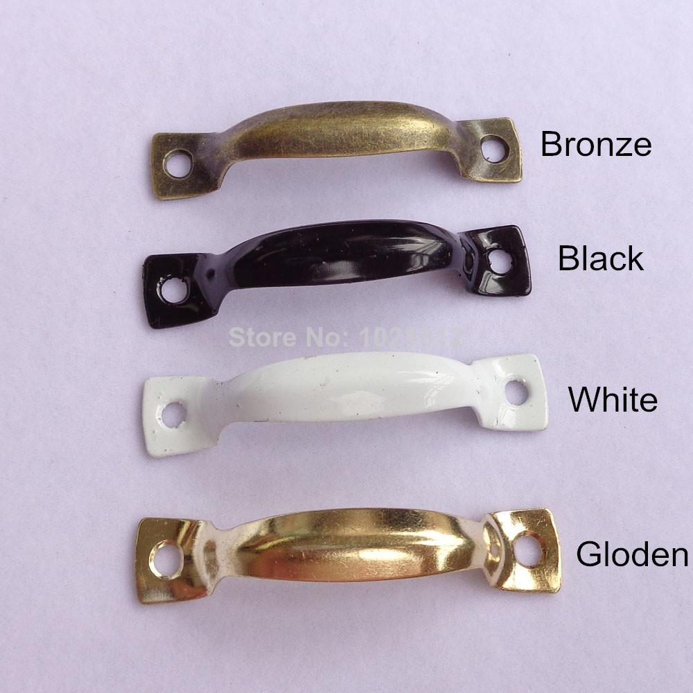 White 50pcs Steel Kitchen Medicine Cabinet Handles Furniture ...