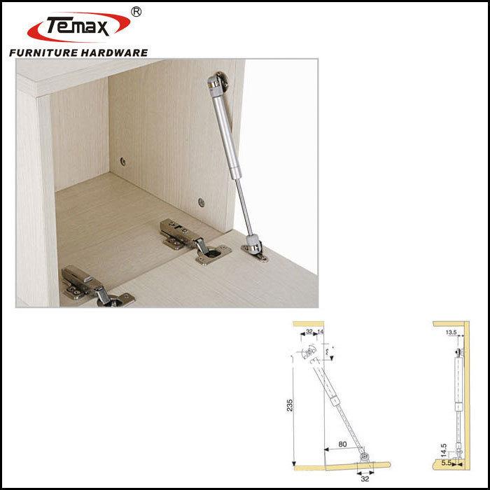Kitchen Cabinet Hardware Location: Hydraulic Gas Support Kitchen Cabinet Door Spring Brass