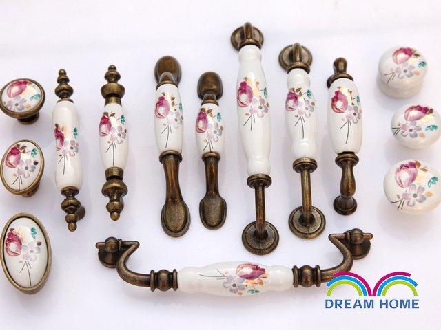 96mm Antiqure bronze ceramic handle cabinet handles drawer pulls