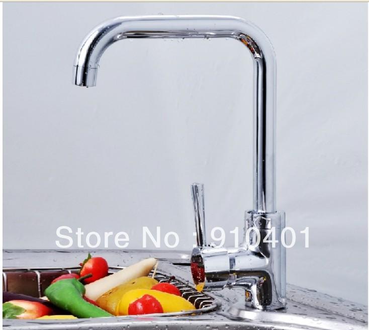 ... Handle Swivel Spout Kitchen Sink Bar Faucet Vessel Mixer Tap Chrome