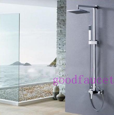 Contemporary Modern Square Brass 8 Quot Bathroom Rain Shower