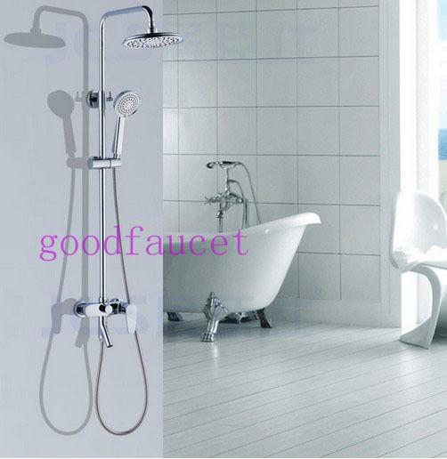 luxury modern shower set faucet full brass shower head chrome polished bathroom tub shower. Black Bedroom Furniture Sets. Home Design Ideas