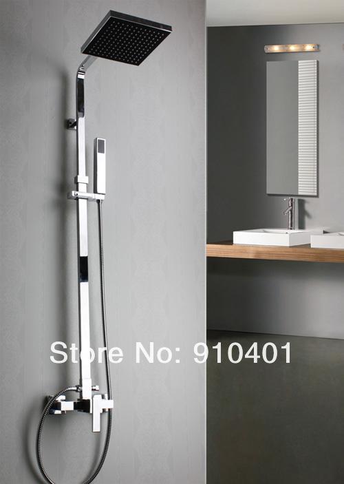 Wall Mount Bathroom Shower Set Shower Faucet 8 Rain Square Shower Head