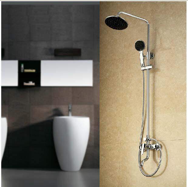 Wholesale And Retail Polished Chrome Rain Shower Faucet Bathroom ...