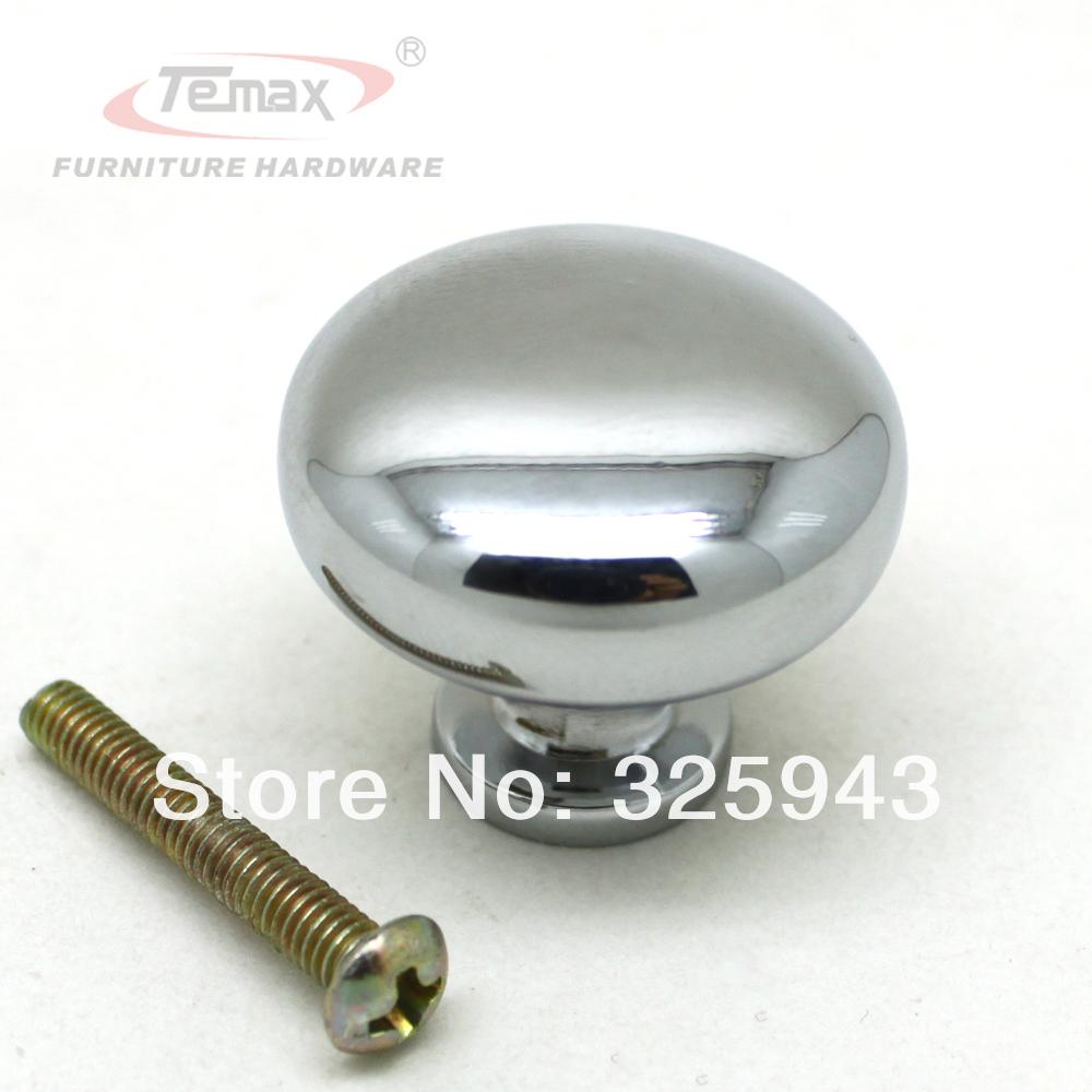 New Solid 30mm Zinc Alloy Mushroom Chrome Polished Dresser