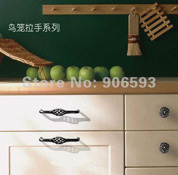 24pcs lot free shipping Classic circular birdcage cabinet knob ...