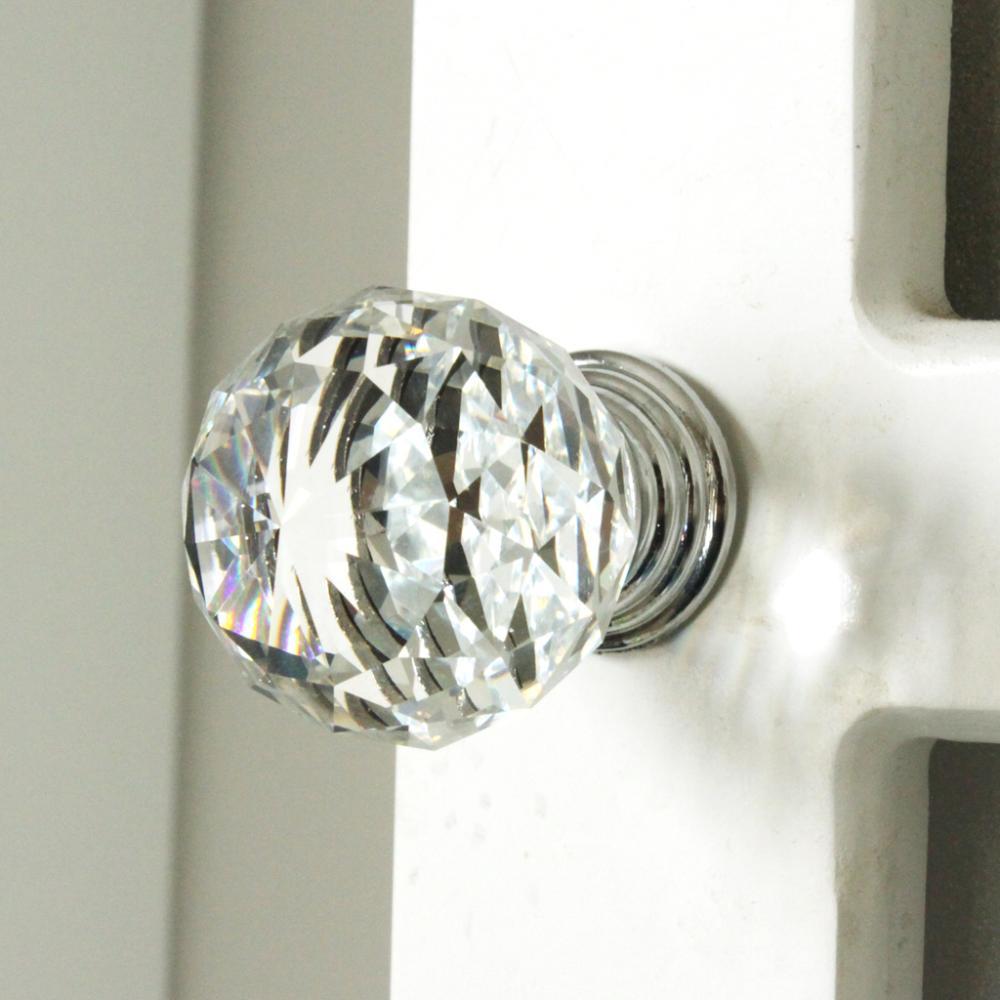 Crystal Kitchen Cabinets: K9 Clear Crystal Knob Chrome Glitter Knob Kitchen Cabinet