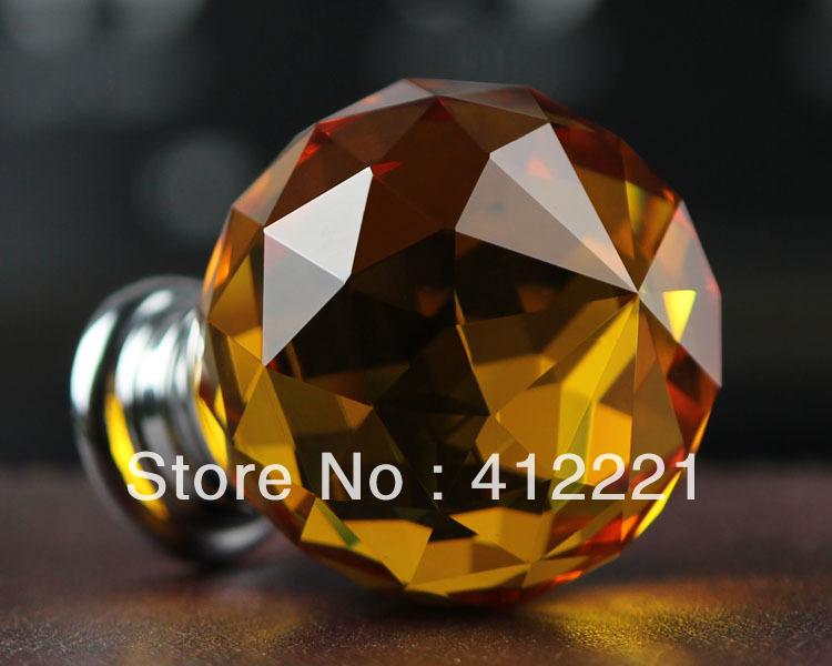 crystal Single Hole : Decorative Kitchen Cabinet Hardware Handle ...
