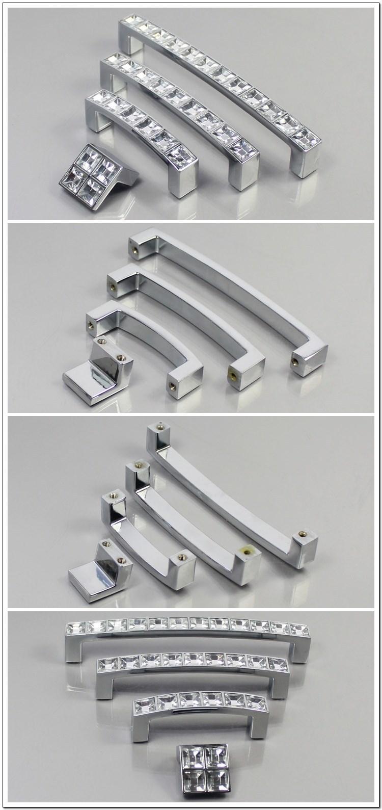 Clear Crystal Acrylic Kitchen Cabinet Door Drawer Hardware Pull Handle Knob Bar