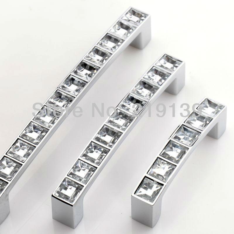 96mm 128mm Crystal Cabinet Pull Handle Bar Cupboard Door