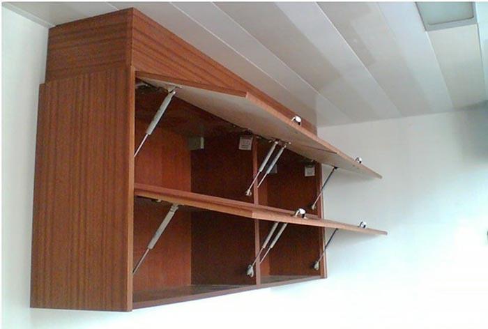 Hydraulic Shelf Kitchen : Furniture hardware lift up hydraulic gas spring cabinet