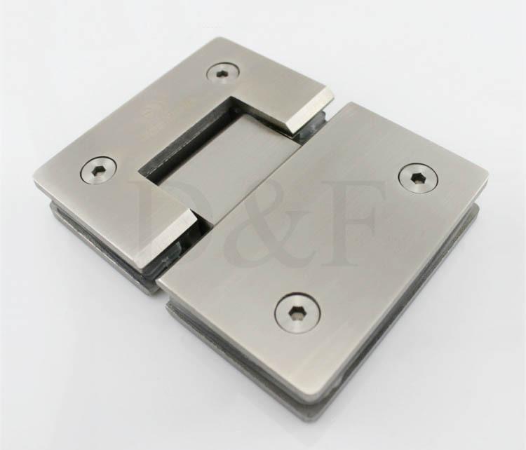 Glass door hardware stainless steel 304 wall mount glass for 180 degree glass door hinge