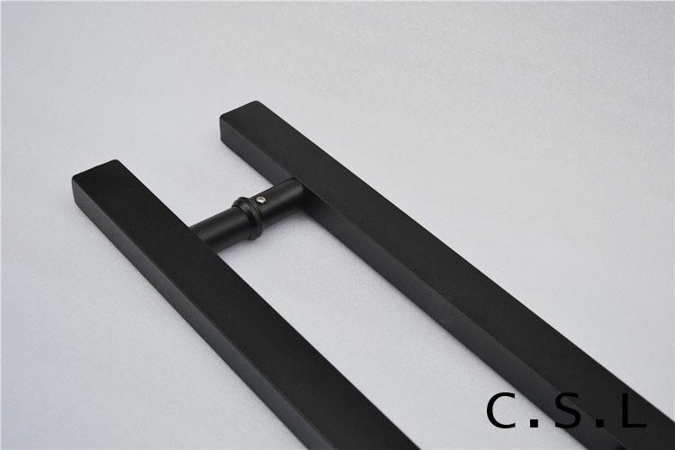 Design storefront door pull handles tubing stainless steel for entry glass wood door 500mm for Stainless steel exterior door handles
