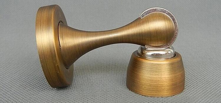 2014 New Antique Stainless Steel Magnetic Door Stopper Holder High Quality  Metal Door Catch