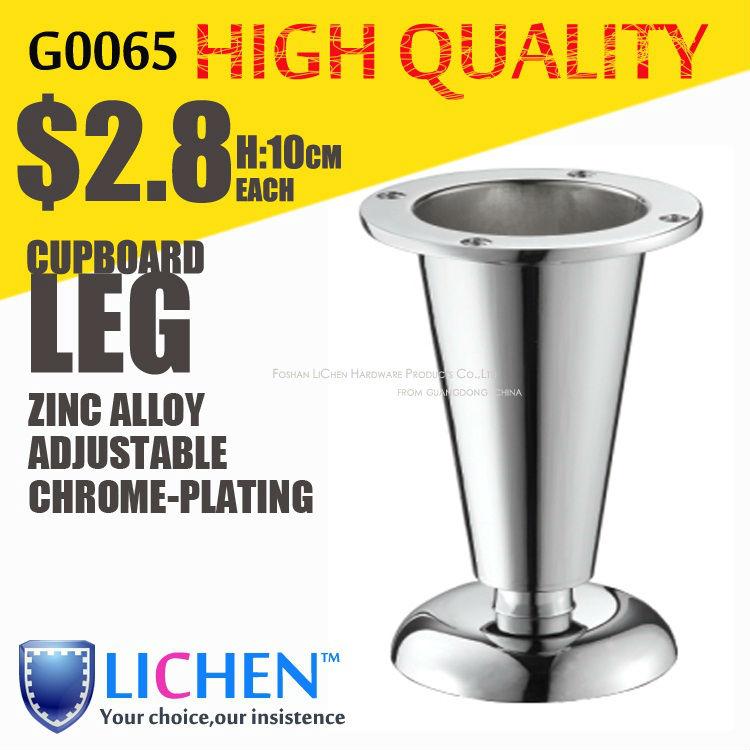 Furniture Legs Brushed Nickel zinc alloys legs&furniture legs&cabinet legs&chrome-plating