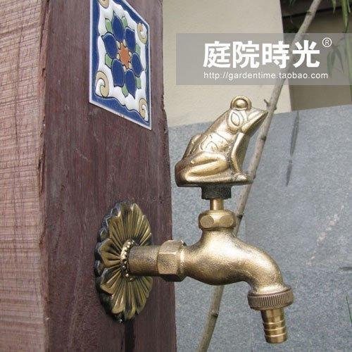 Brass Copper Animal Faucet Washing Machine Bronze Frog Garden Tap Garden Hardware