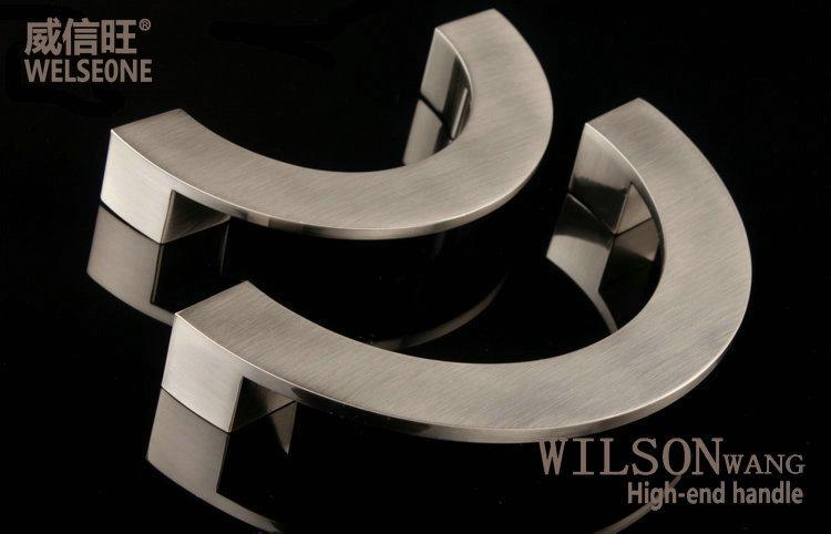 Cabinet Drawer Wardrobe Door Handle Modern Minimalist Knob Furniture Handle  Brushed Semicircle Pull Handle 5pcs/