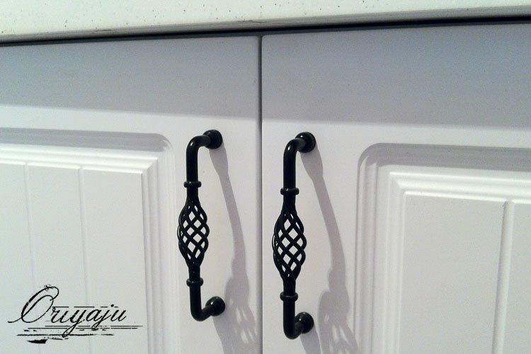 10pcs Lot Iron Birdcage Cabinet Pull Handle Matte Black Finish C 3 78