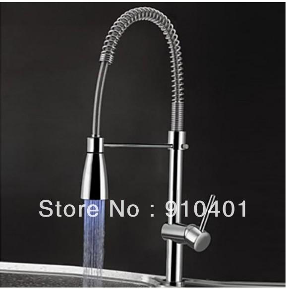 Color Changing Led Bathroom Basin Faucet Sink Mixer Vessel