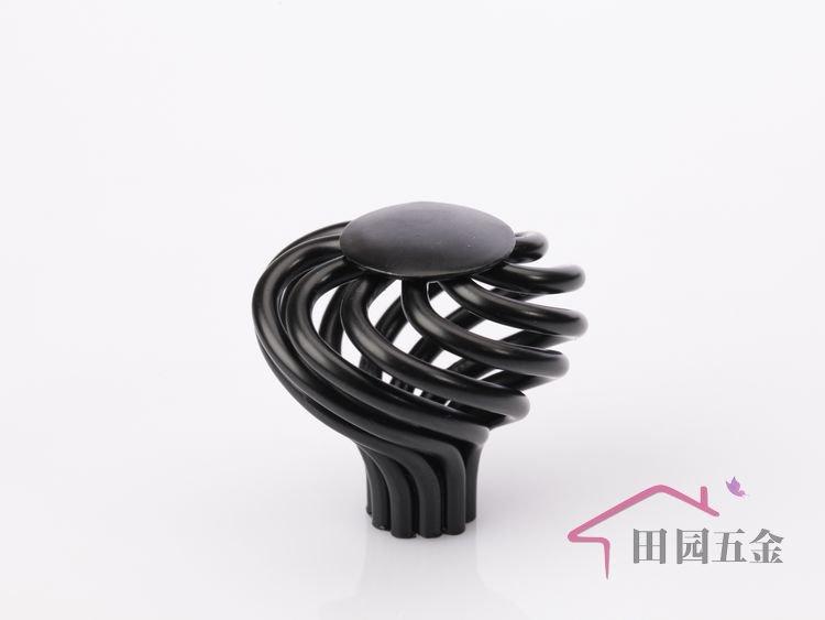 38mm Black IRON birdcage knob / cabinet furniture drawer wardrobe ...