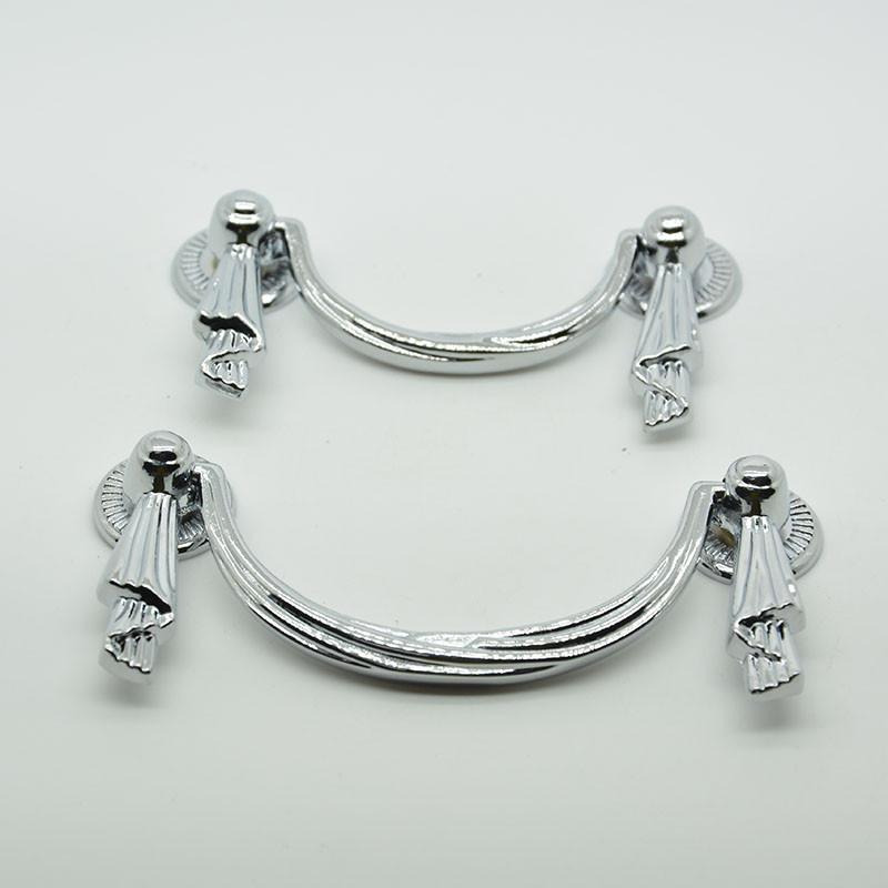 64mm chrome zinc alloy 35g white drawer handles kitchen ...