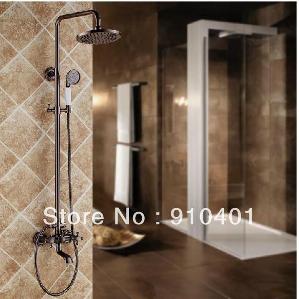 best shower faucet sets. Wholdsale And Retail Promotion Modern Luxury Oil Rubbed Bronze 8  Rain Shower Faucet Set Tub Decorative Kitchen Cabinet Hardware