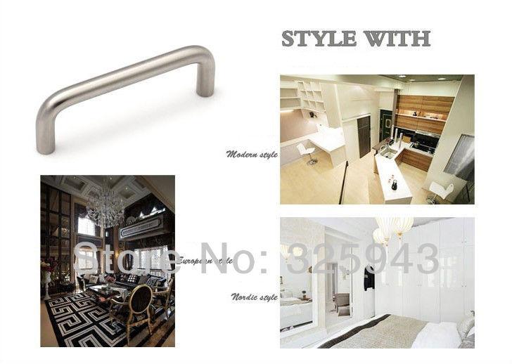 Bedroom Furniture Hardware 2pcs 128mm brushed nickel bedroom furniture hardware door handle