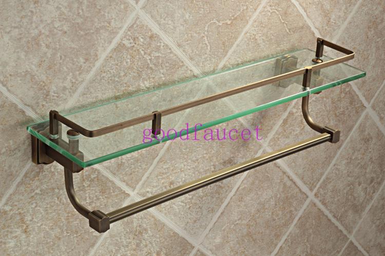 Multi-function Wall mount antique bronze bathroom shelf brass made ...
