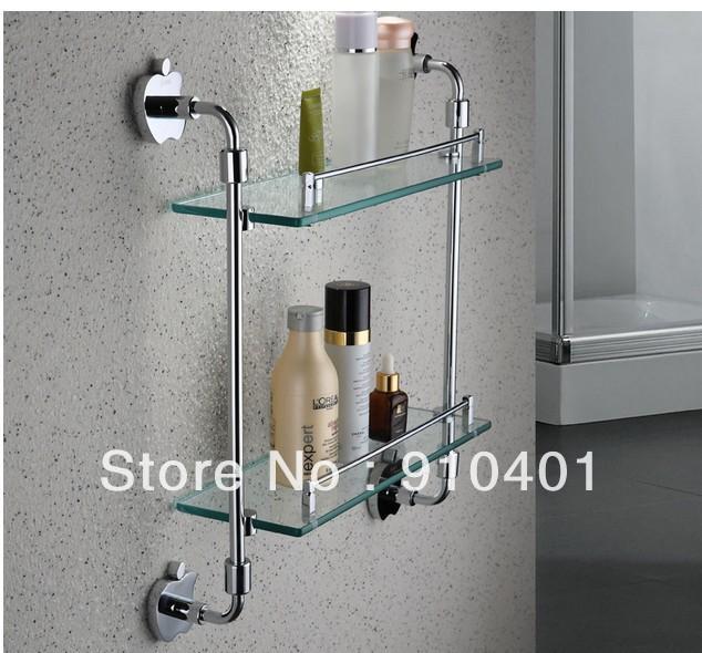 Wholesale U0026 Retail Promotion NEW Luxury Wall Mounted Chrome Brass Dual Tier Shower  Caddy Shelf Stroge