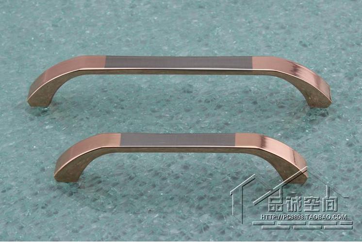 New 8pcs 96mm Solid Long Cabinet Handles Gold Door Handle Drawer ...