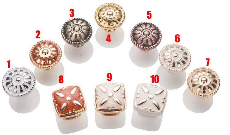 10Pcs Zinc alloy Kitchen Cabinet Knobs And Handles Dresser Drawer