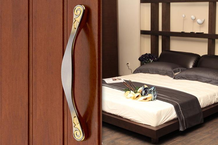 2pcs 64mm brushed zinc alloy furniture hardware kitchen cabinet door knobs handles dresser drawer pulls