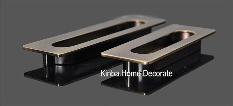 96mm antique brass cabinet pulls / drawer pull vintage / wardrobe ...