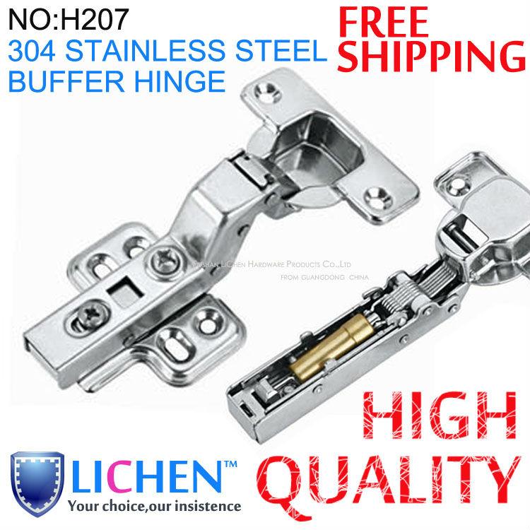 4 304 stainless steel full overlay buffer hinges soft