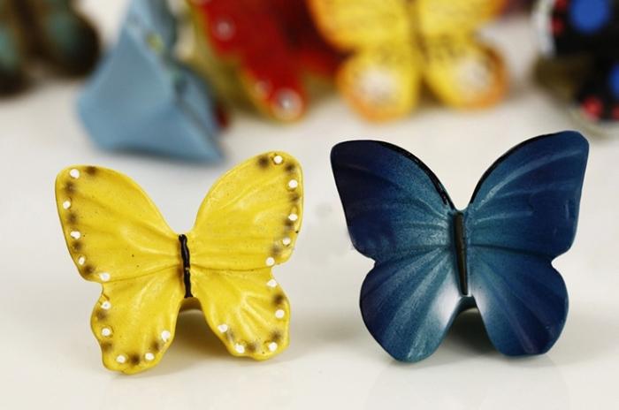 Cute Cartoon Butterfly Kids Cabinet Knobs And Handles Dresser ...